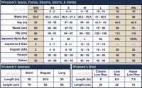 Jeans Size Chart American Eagle