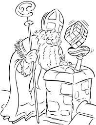 Kleurplaat Sinterklaas Kleurplaat Sinterklaas Op Het Dak Animaatjesnl
