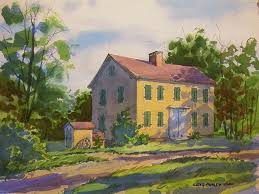 in the creation of the watercolor frostville barnhouse i used a traditional approach and