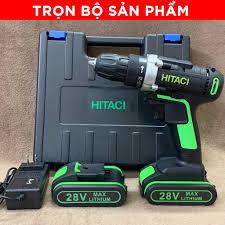 TẶNG PHỤ KIỆN] Máy khoan dùng pin Hitachi 28V, máy khoan đa năng bắt vít  chất lượng cao giá siêu rẻ chính hãng 529,000đ