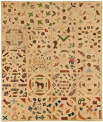 Historical quilts at the Brooklyn Museum of Art - HALI & Pictorial Quilt, circa 1840. Cotton, cotton thread, 67 3:4 x Adamdwight.com