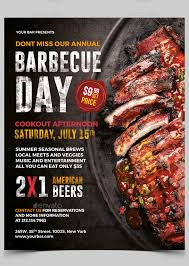 Barbecue Flyers 20 Professional Free Flyer Templates In Psd For Bbq Lovers