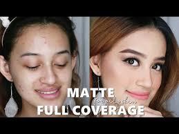 makeup matte tahan lama untuk kulit berminyak dan berjerawat tbs matte clay skin foundation review