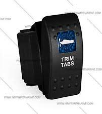 marine trim switch boat parts labeled marine contura ii rocker switch carling lighted trim tabs blue lens