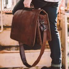 roosevelt mens vintage leather messenger bag water buffalo