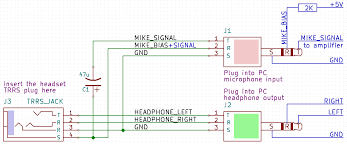 trrs to trs wiring diagram wiring diagram schematic of heet adapter