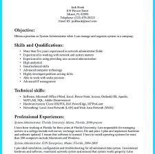 Best System Administrator Resume Resume Template System