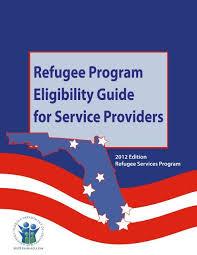 Refugee Program Eligibility Guide For Service Providers