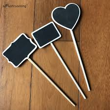 herb garden marker plant stands stake set of 10 flower bed signs organic gardening stakes heart wooden chalkboard herb marks