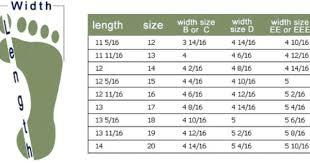 Big Feet Sizing Chart Shoe Size Chart Kids Shoe Size