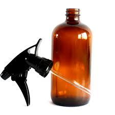 glass straw spray bottle amber glass
