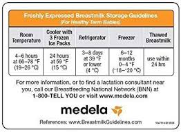 Breast Milk Feeding Chart Medela Milk Storage Guidelines Magnet 1 Each