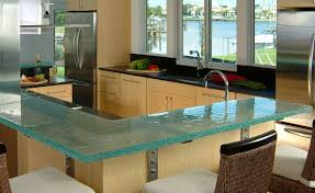 glass kitchen countertops the new way home decor elegant glass kitchen countertops