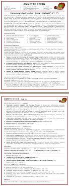 Teacher Resume Elementary School Teacher Sample Resume