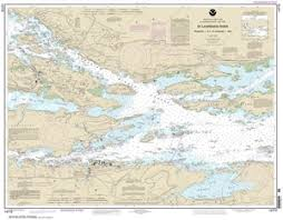 Ontario Nautical Charts 14772 St Lawrence River Ironsides Island Ny To Bingham Island Ontario Nautical Chart