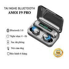 Tai nghe Bluetooth 5.0 AMOI F9 Pro cảm ứng bản quốc tế tại Hà Nội