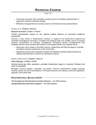 resume example executive assistant careerperfectcom writing sample resume