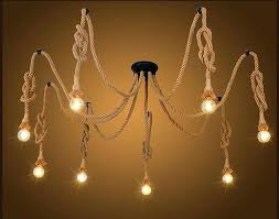 edison bulb pendant vintage hemp rope spider pendant light antique classic adjustable spider light retro bulb edison bulb