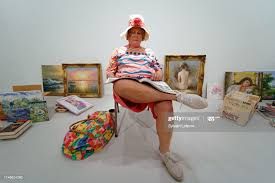 """Flea market lady"""" by Duane Hanson, part of the Eldorama show at the... News  Photo - Getty Images"""