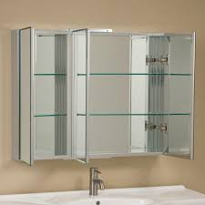 Glass Bathroom Cabinets Clairement Series Aluminum Tri View Medicine Cabinet Bathroom