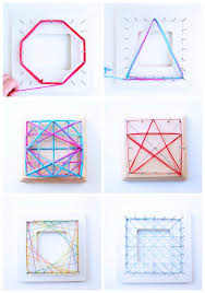 Geometric String Art Patterns Awesome Math Art Idea Explore Geometry Through String Art Babble Dabble Do