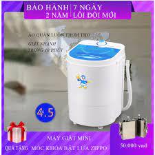 Máy giặt Mini công suất 260W Nhỏ gọn Tiện dụng tiết kiệm dung lượng 4.2kg  Tiết kiệm nước điện giặt nhanh giúp quần áo sạch sẽ thơm tho chỉ trong 10  phút -