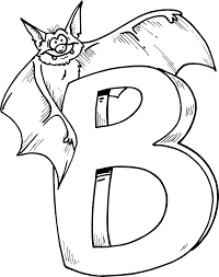Small Picture Animal Bat Alphabet Coloring Pages Alphabet Coloring pages of
