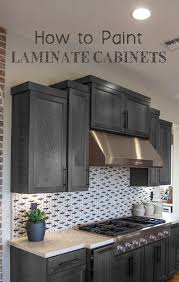 painting laminate kitchen cabinets before and after.  Cabinets How To Paint Laminate Cabinets More In Painting Kitchen Before And After H