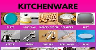 Kitchenware: Top 100+ Essential Tools & Furniture in the Kitchen - Visual  Dictionary