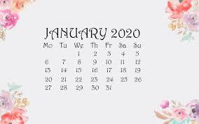 Desktop Wallpaper January 2020 Calendar ...