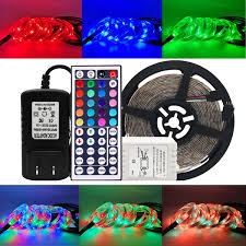 Adhesive Light Strips Lightimes Led Strip Lights Strip Lights 16 4ft 300leds 5m Waterproof Adhesive Light Strips Rgb Color Changing Smd 3528 Ribbon Kit With 44key Remote