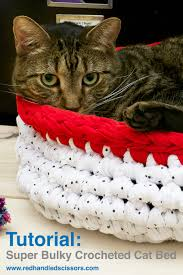 tutorial super bulky crocheted cat bed looking for a quirky modern cat bed