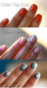 glitter nails three ways a cozy kitchen