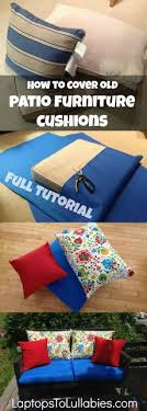 diy outdoor furniture cushions. How To Re-cover Patio Furniture Cushions: Full Tutorial! {LaptopsToLullabies.com Diy Outdoor Cushions