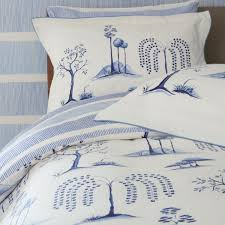 sanderson willow tree bed linen blue toile print bedding