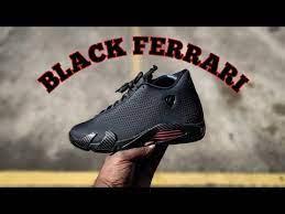 First Look Air Jordan 14 Retro Se Black Ferrari Review Youtube