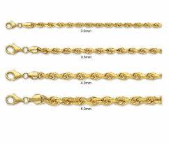 Gold Rope Chain Size Chart Bedowntowndaytona Com