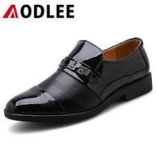 <b>AODLEE</b> Men Dress Shoes Formal Wedding Leather Shoes <b>Plus</b> ...