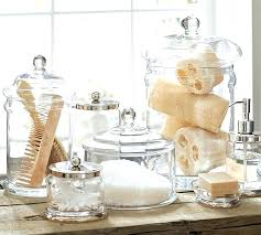 glass bathroom containers glass bathroom containers classic canister in top pinned wedding gifts bath and storage