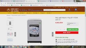 Máy giặt Hitachi 11kg SF-110XA 220-VT - YouTube