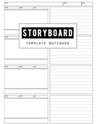Notebook Templates Storyboard Template Film Storyboading Journal Drawing Sketching Pad 4 Panel Visual Storytelling Notebook Narration Lines Standard For Storyboard