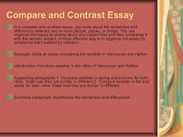 essay writing  6 compare and contrast essay