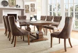 homelegance marie louise dining set rustic oak brown