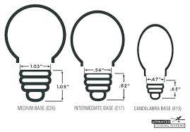 ceiling fan light bulb base bulbs size candelabra chart bul