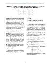 formato de informe en word modelo para informe en ieee