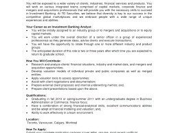 Investment Banking Resume Template What You Must Include Internship