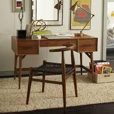 mid century desk acorn west elm chair mid century office