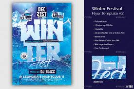 Winter Flyer Template Winter Festival Flyer Template V24 By ThatsDesign GraphicRiver 8