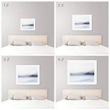 Tapestry, textiles, and wall hangings add softness and color above your bed. Ideal Art Size Above King Bed Modern Coastal Bedroom Decor Tips Modern Bed Coastal Bedrooms Bedroom Wall Decor Above Bed