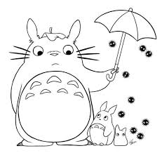 Small Picture Totoro Coloring Pages Coloring Pages Kids